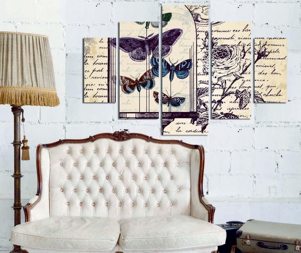Set 5 tablouri Butterfly