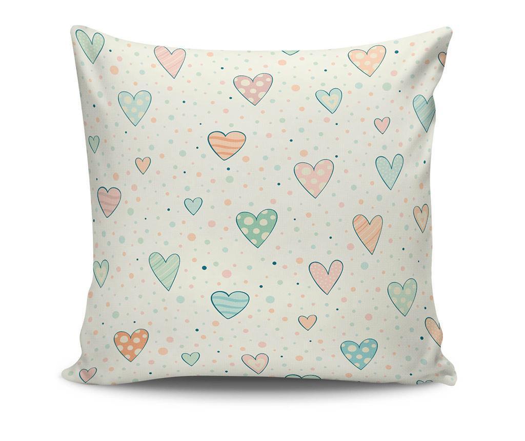 Perna decorativa Cute Hearts 45x45 cm