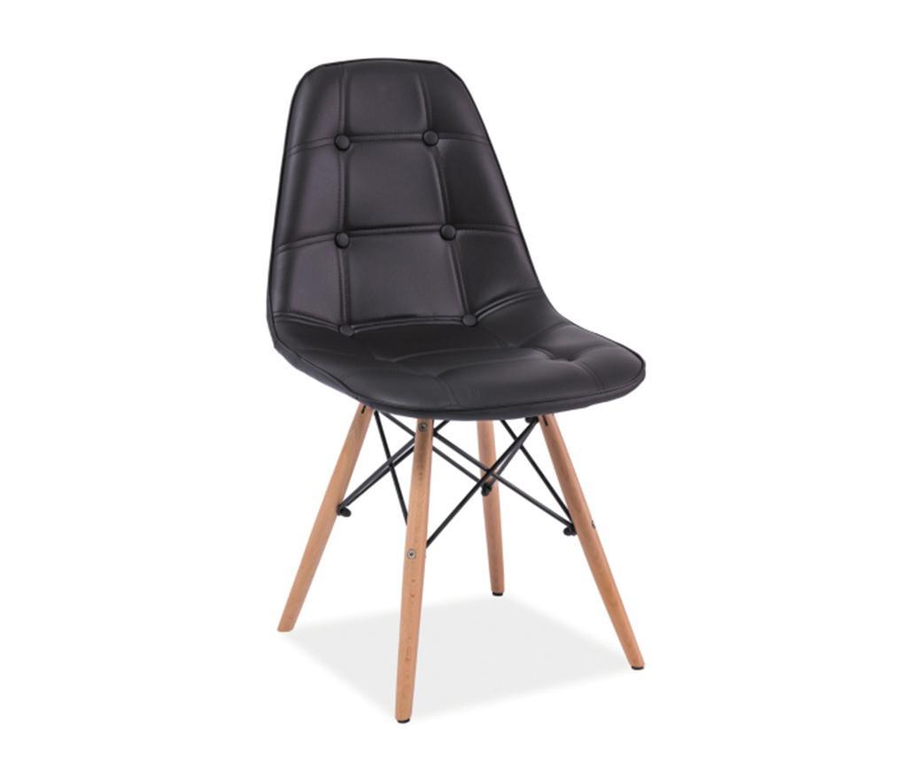 Καρέκλα Button Charles Black