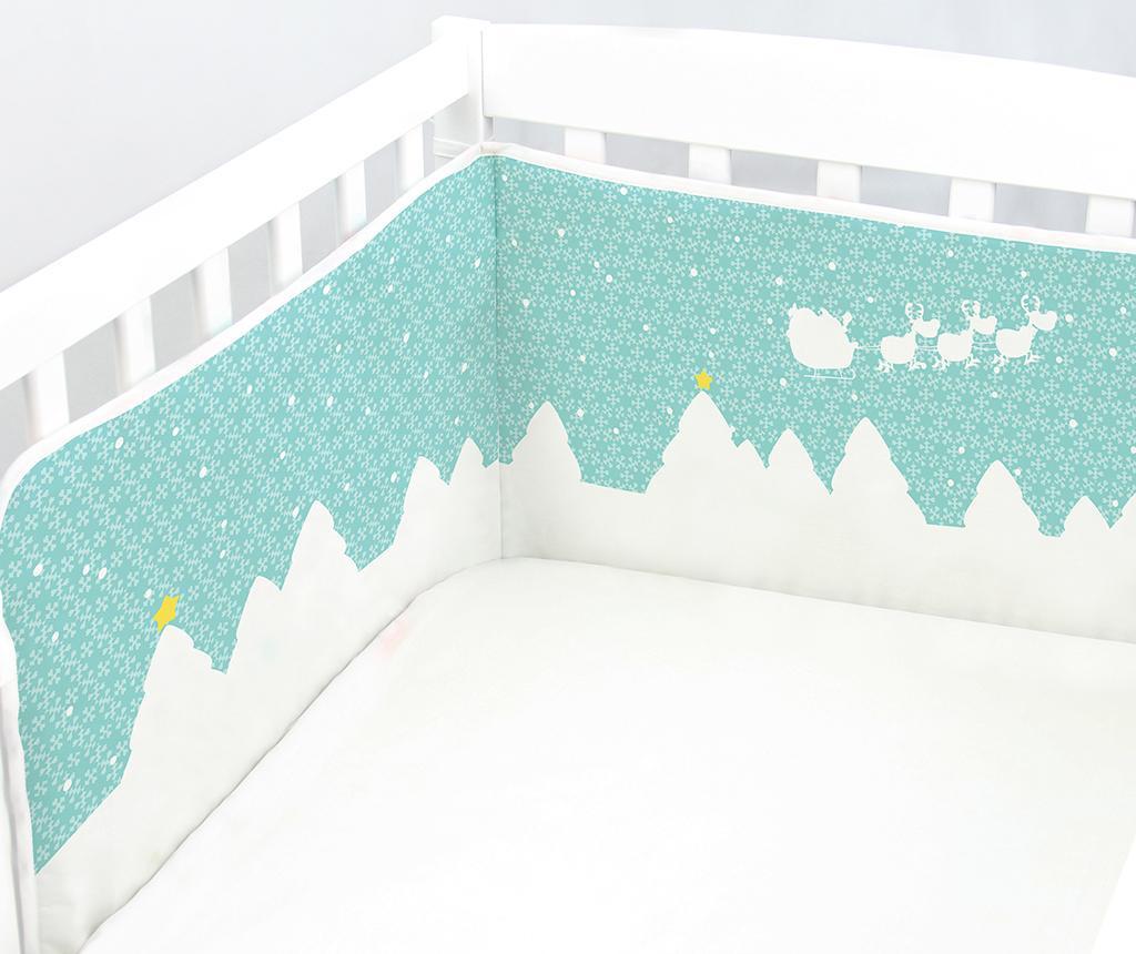 Christmas Landscape Ágyrácsvédő kiságyba 40x180 cm
