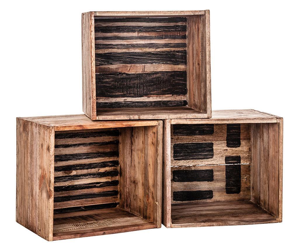 Set 3 kutije za spremanje Rustik Line