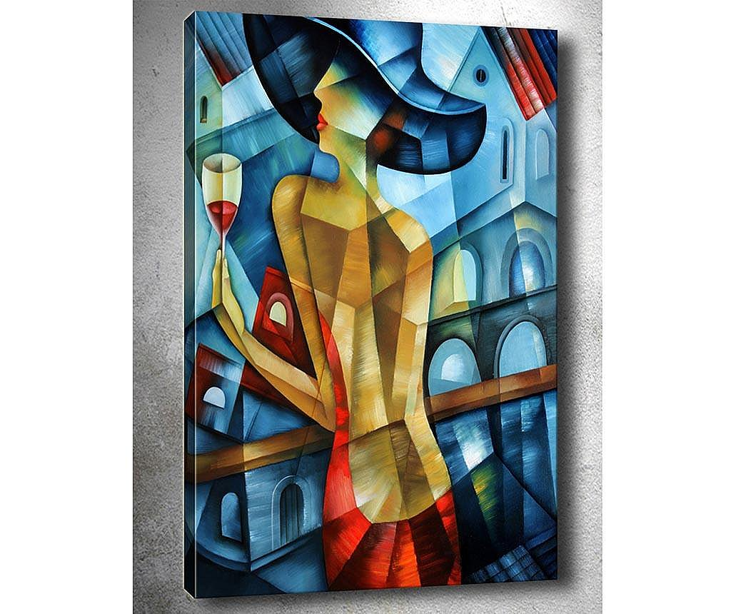 Tablou 3D Lady in Red 50x70  cm