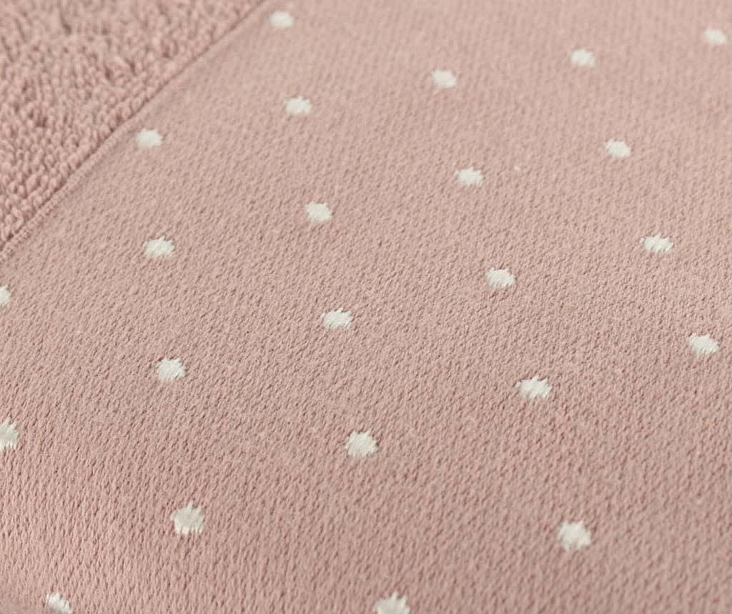 Set 2 prosoape de baie Polka Dots Dusty Rose 50x90 cm