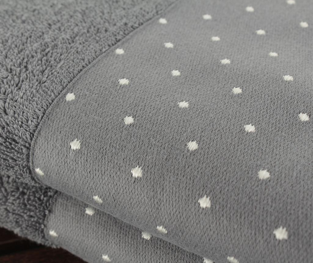 Set 2 prosoape de baie Polka Dots Grey 50x90 cm