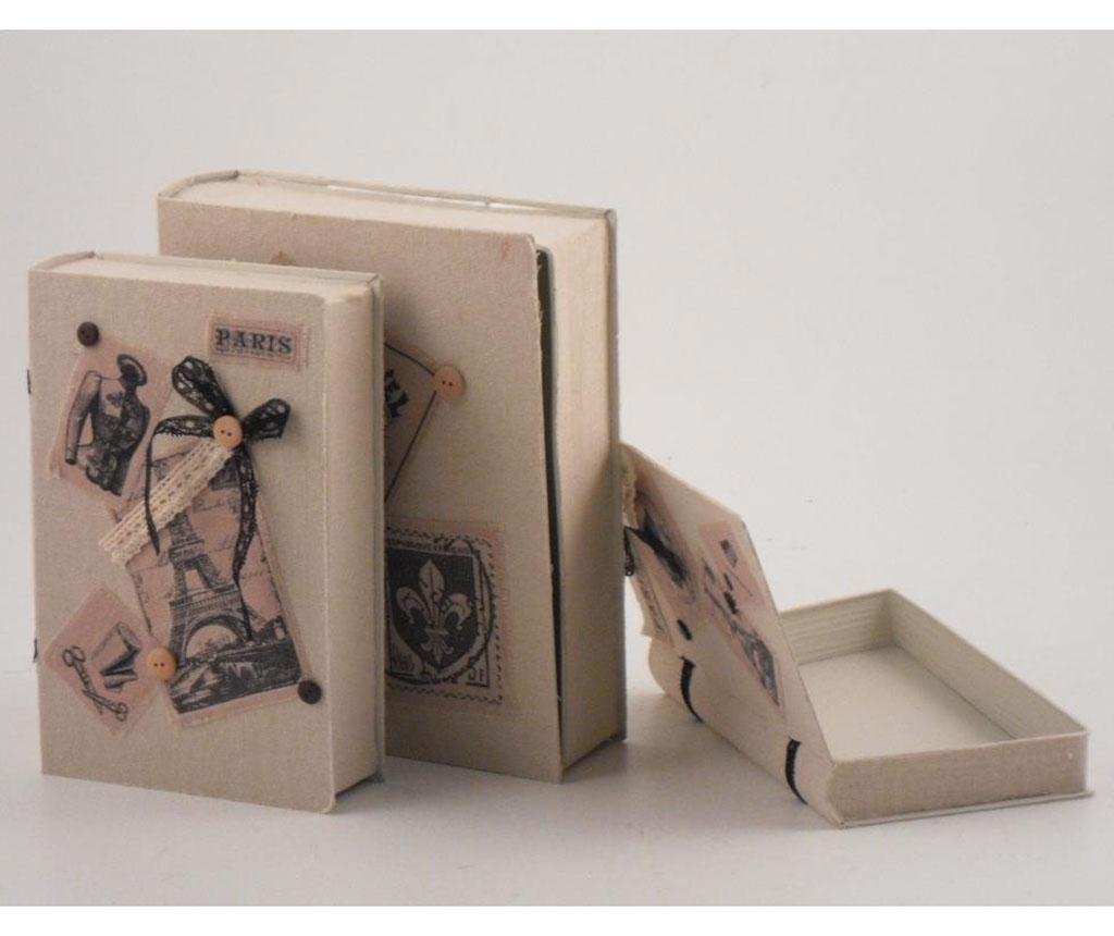 Set 3 kutije tipa knjige Manny