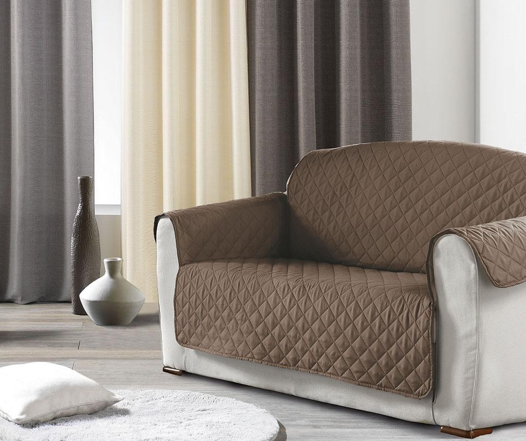 Prošivena navlaka za kauč Club Brown 179x279 cm