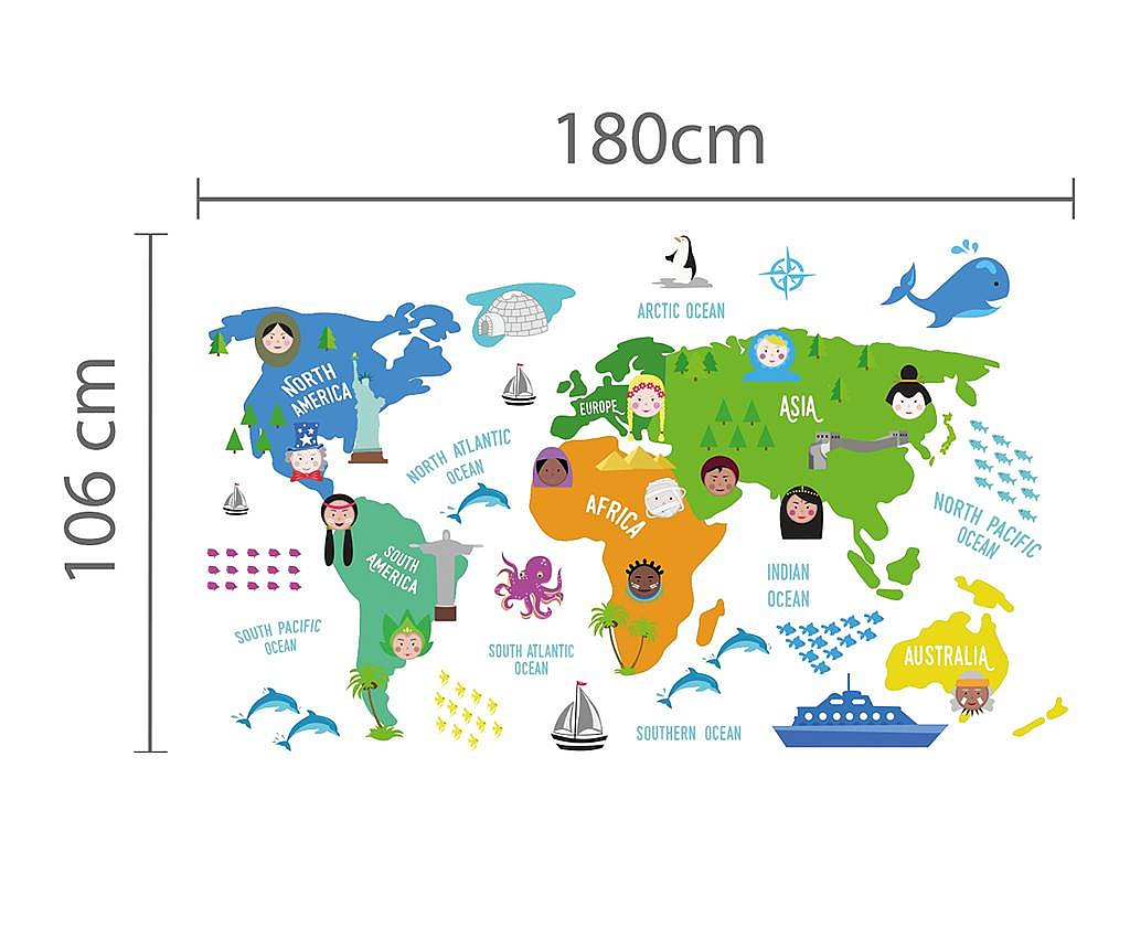 Naklejka Word Map