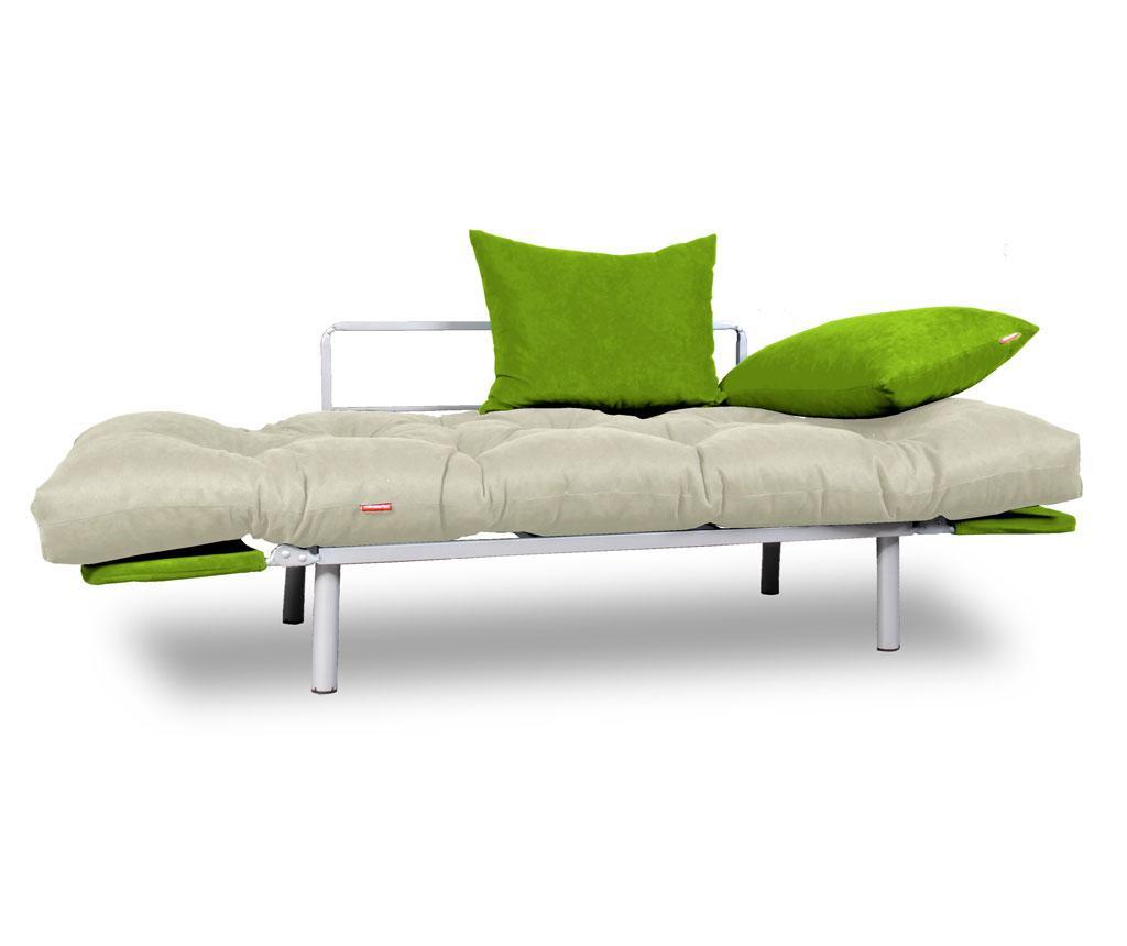 Sofa extensibila Relax Cream Green