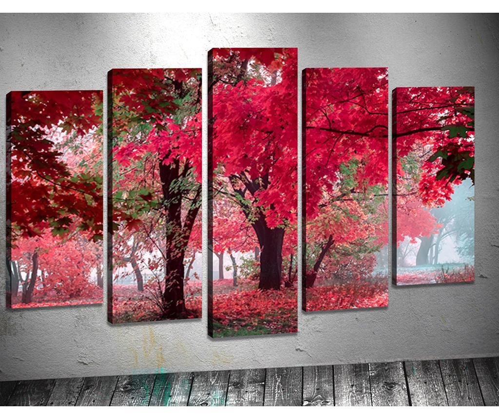 Set 5 tablouri 3D Autumn