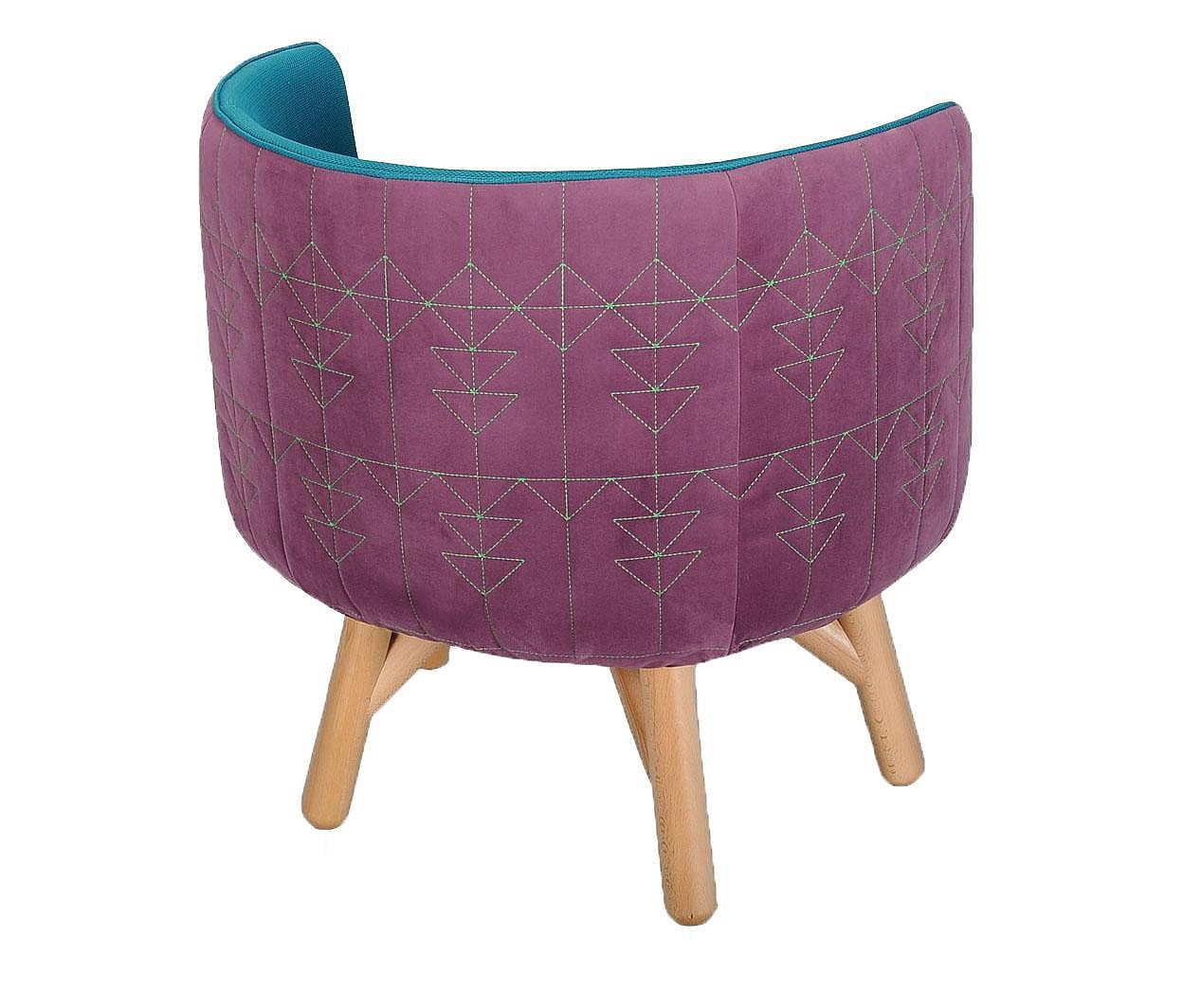 Fotelja Tarka Small Purple Blue