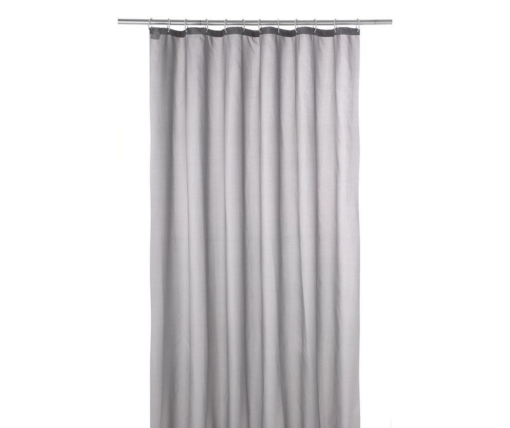 Zasłona prysznicowa Plain Grey 180x200 cm