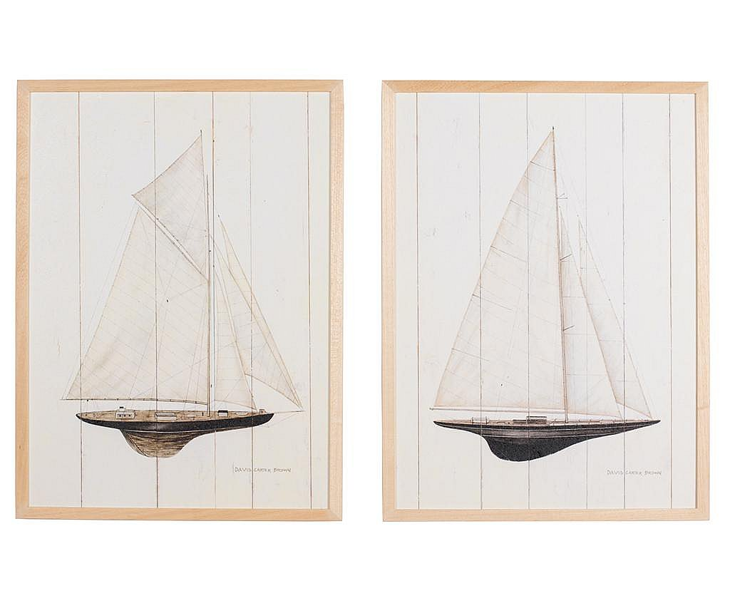 Zestaw 2 obrazów Regata Grande 53x73 cm