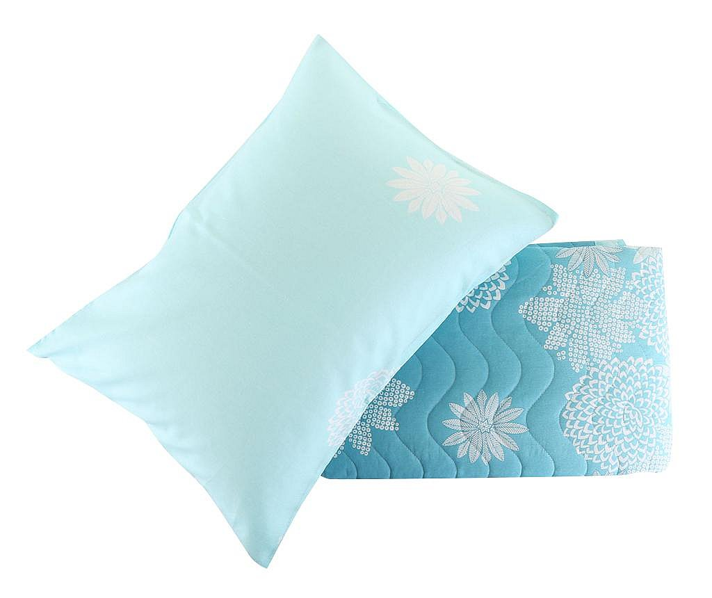 Set prošiveni prekrivač  Double Simay Turquoise