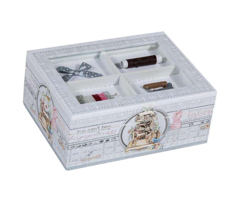 Kutija za šivaći pribor s  poklopcem Romantic