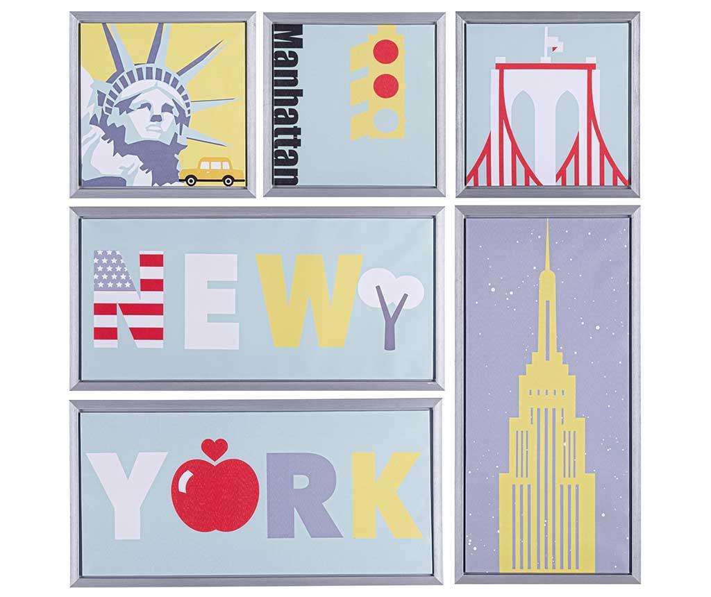 Set 6 tablouri New York