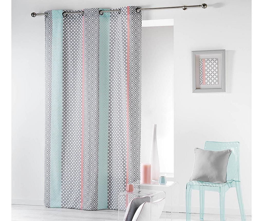 Zastor Baltic Pink and Green 140x240 cm