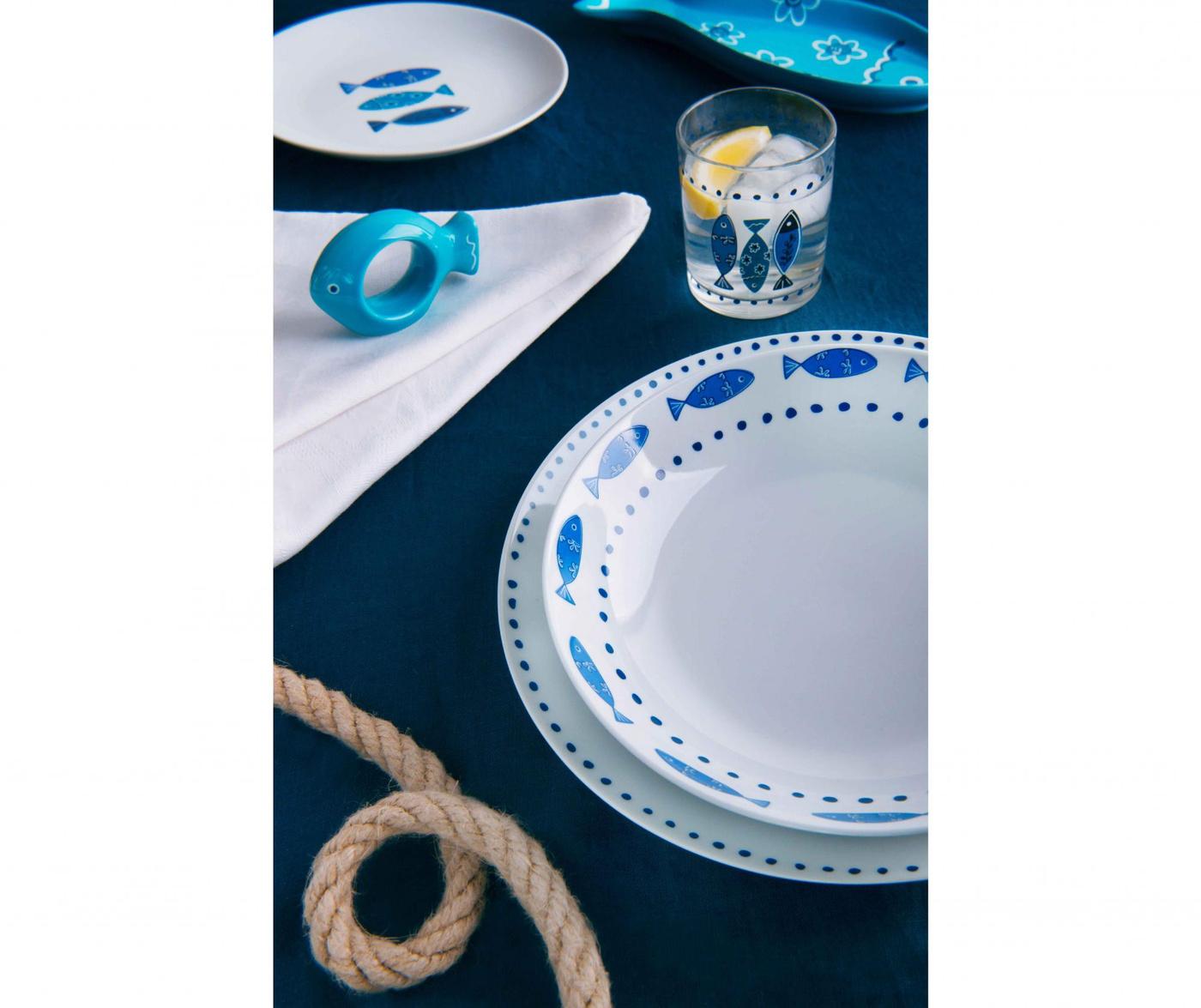 Osiemnastoczęściowa zastawa stołowa Ocean Blue