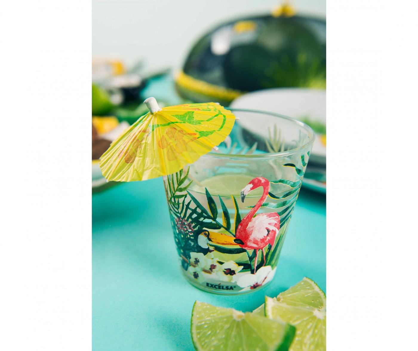 Set 6 pahare Tropical Paradise 250 ml
