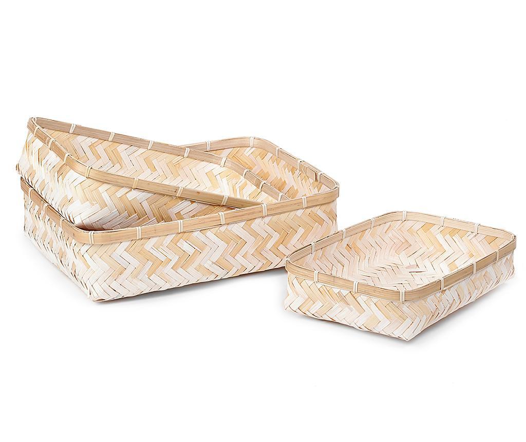 Set 3 košare Bamboo Simep