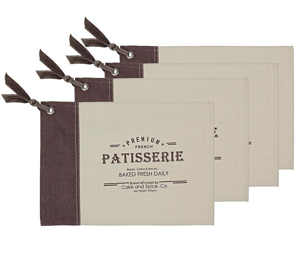 Set 4 podmetača Patisserie 33x48 cm
