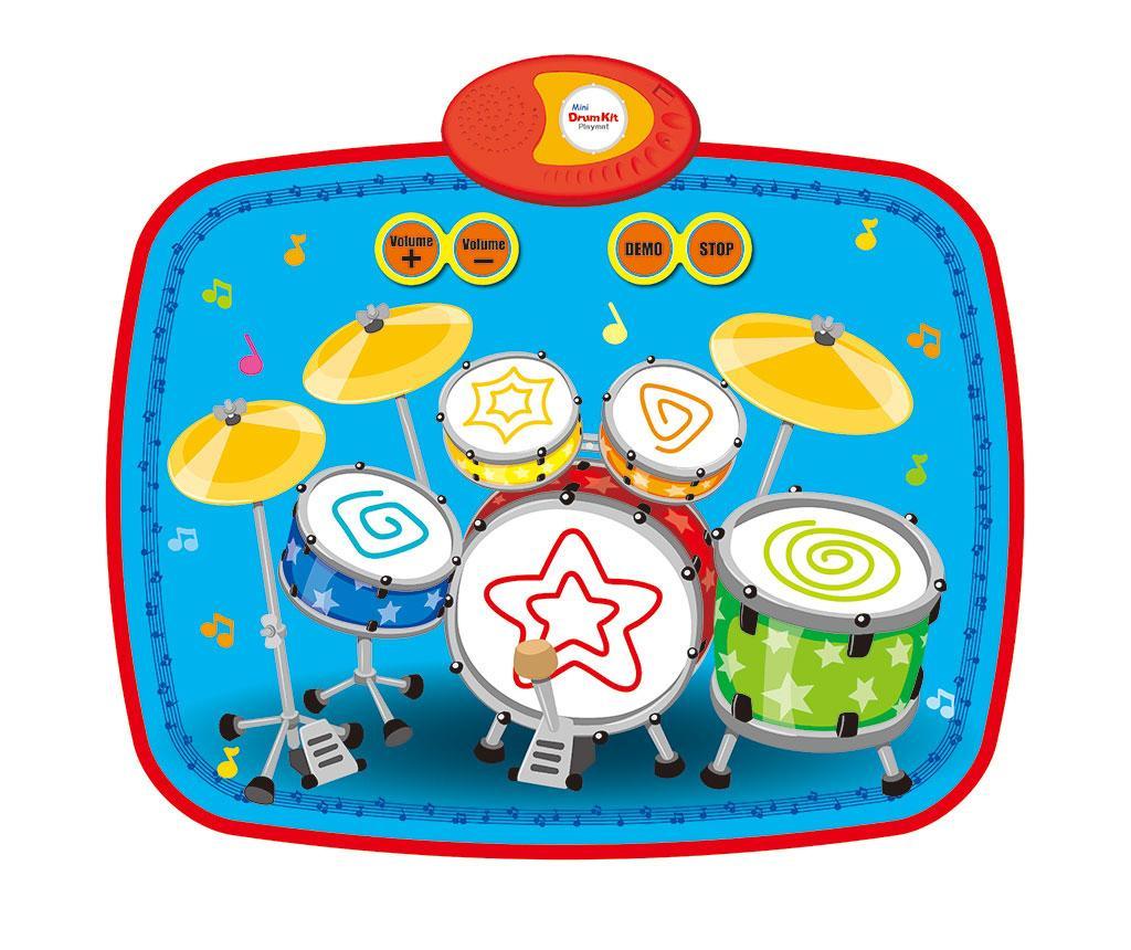 Covor muzical cu activitati Mini Drum Kit 43x55 cm