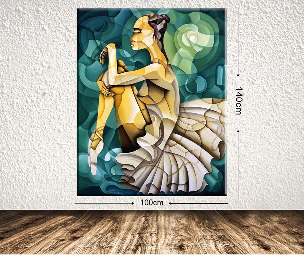 Tablou Geometric Ballerina 100x140 cm