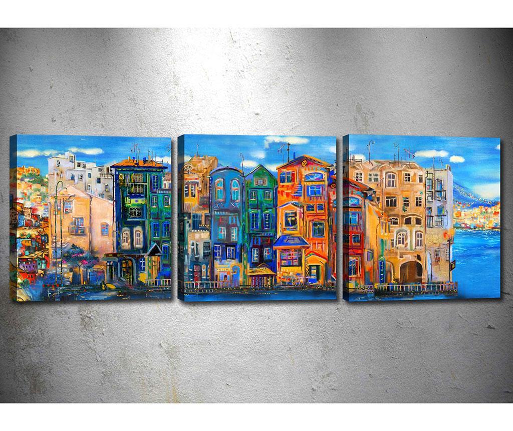 Set 3 tablouri City View 30x30 cm