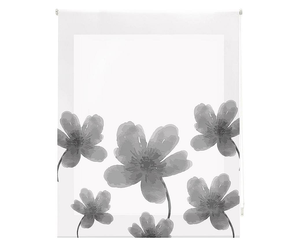 Jaluzea tip rulou Pansies Grey 80x180 cm