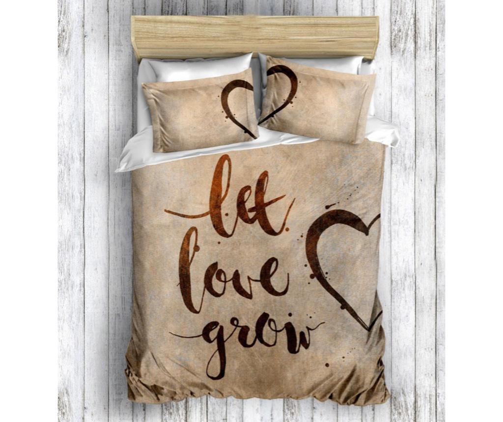 Lenjerie de pat King Ranforce Grow Love