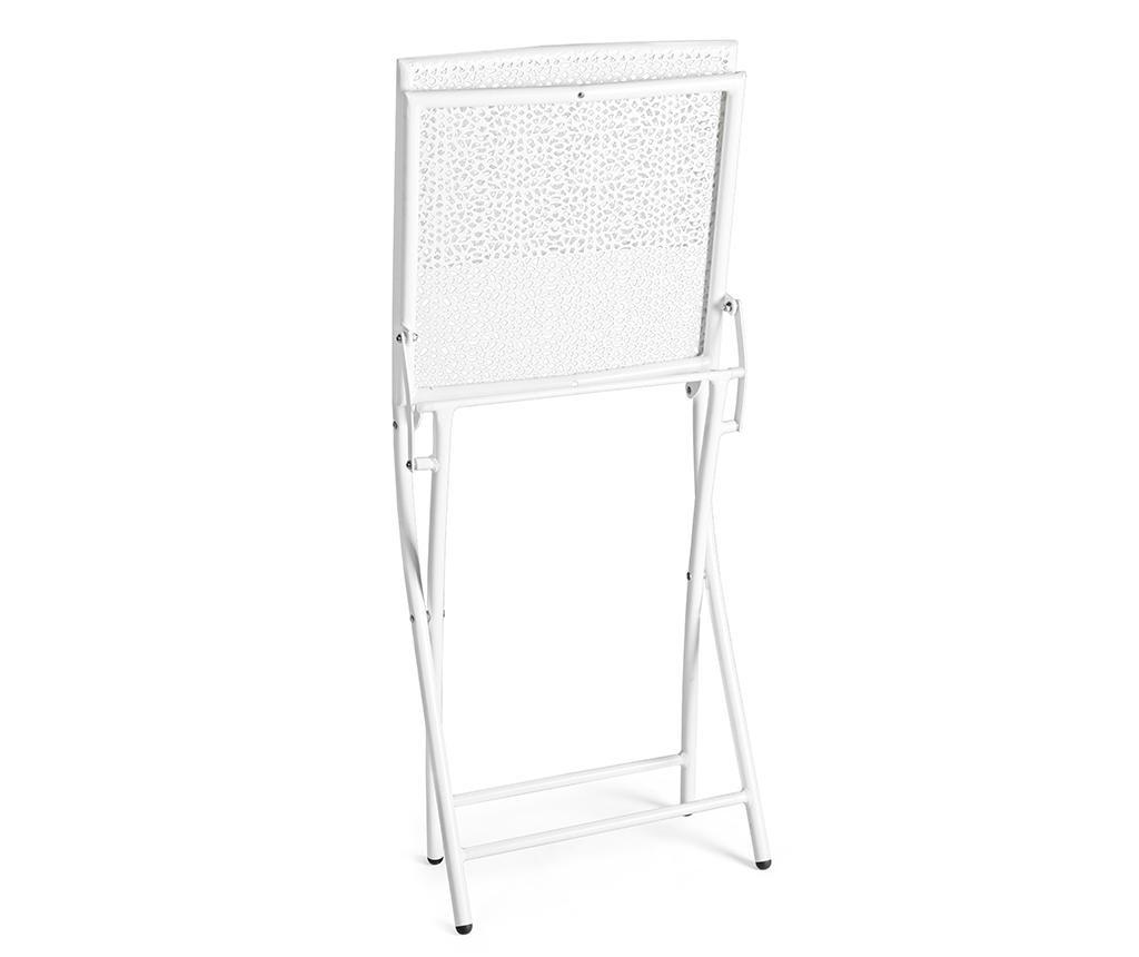 Składane krzesło zewnętrzne Kennen White