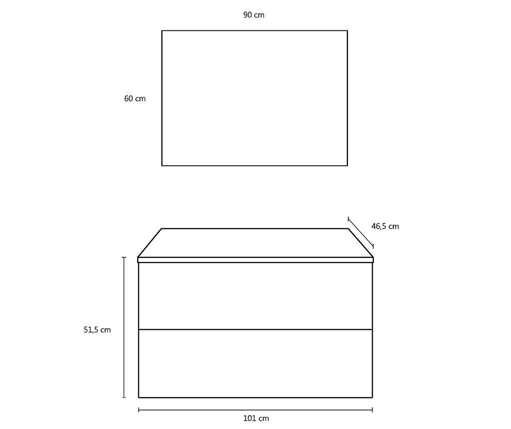 Czteroczęściowy zestaw mebli łazienkowych Marte Avana Stone
