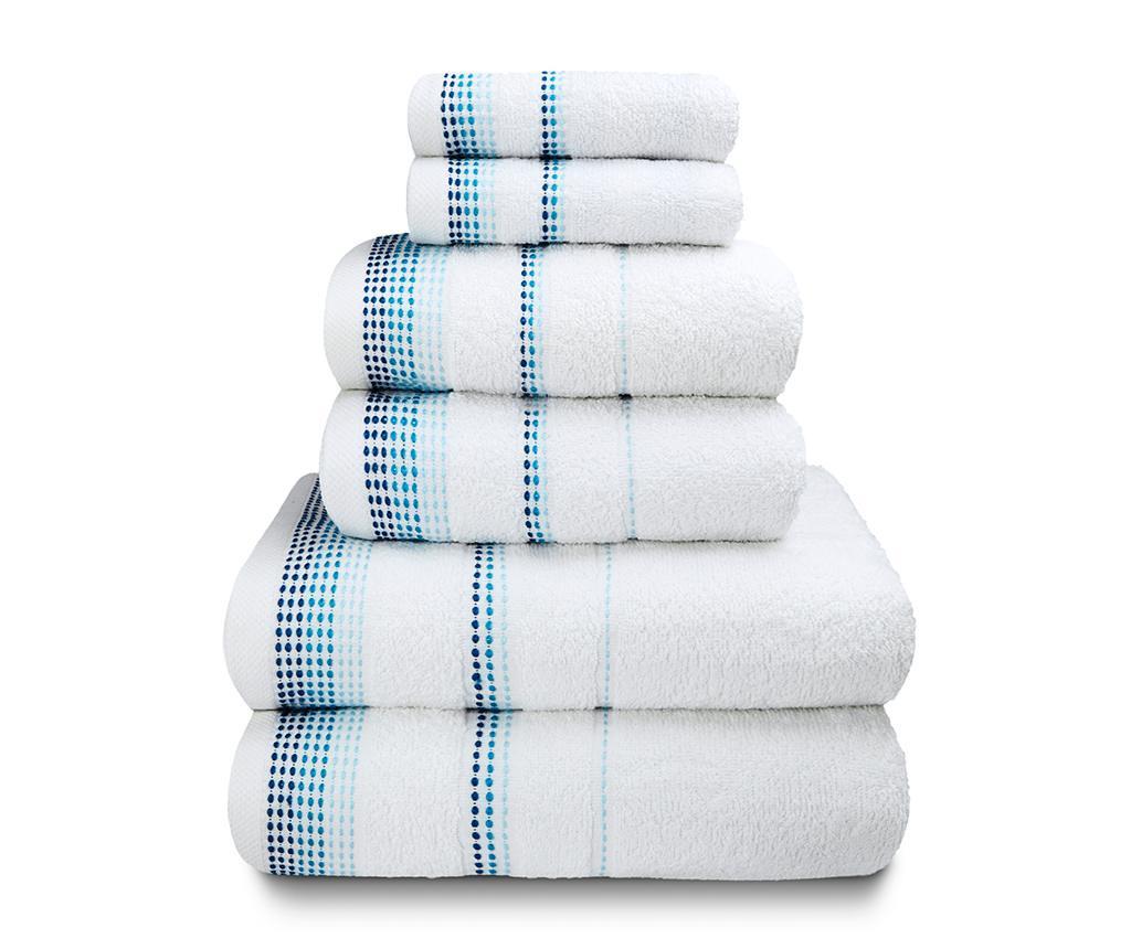 Zestaw 6 ręczników kąpielowych Berkley White