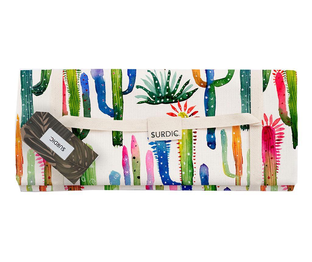 Patura pentru picnic Watercolor Cactus 140x170 cm