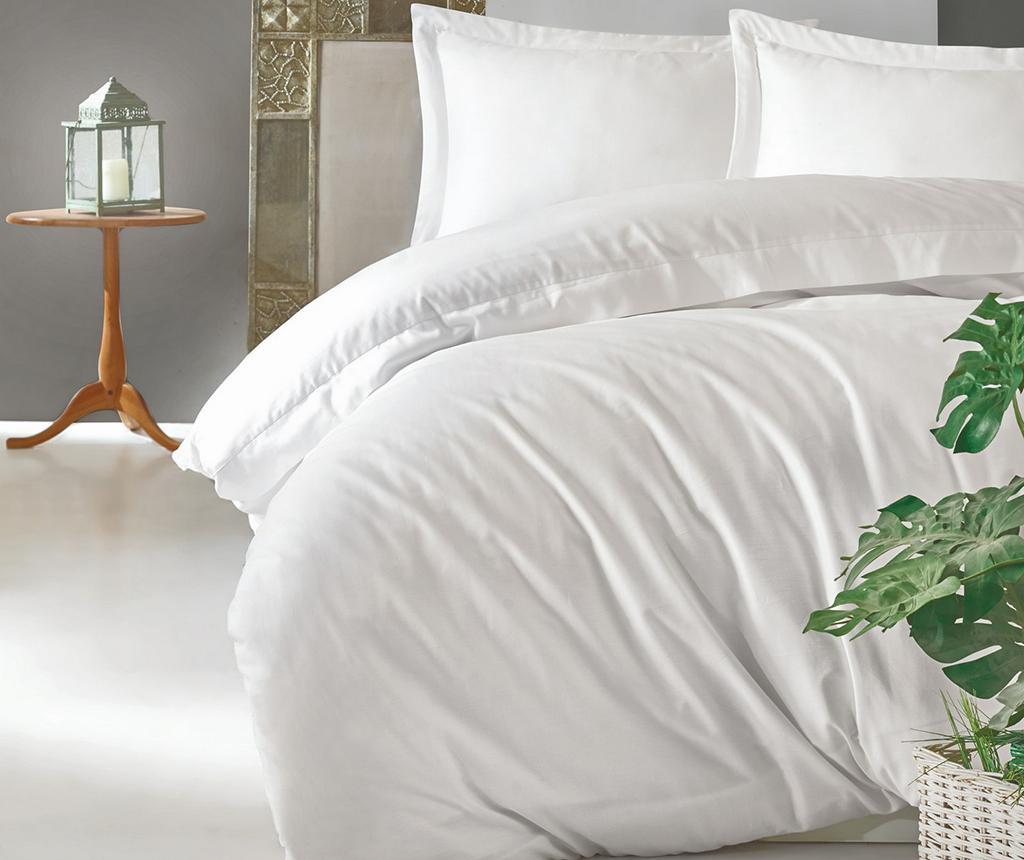 Posteljina King Satin Supreme Elegant White 200x220
