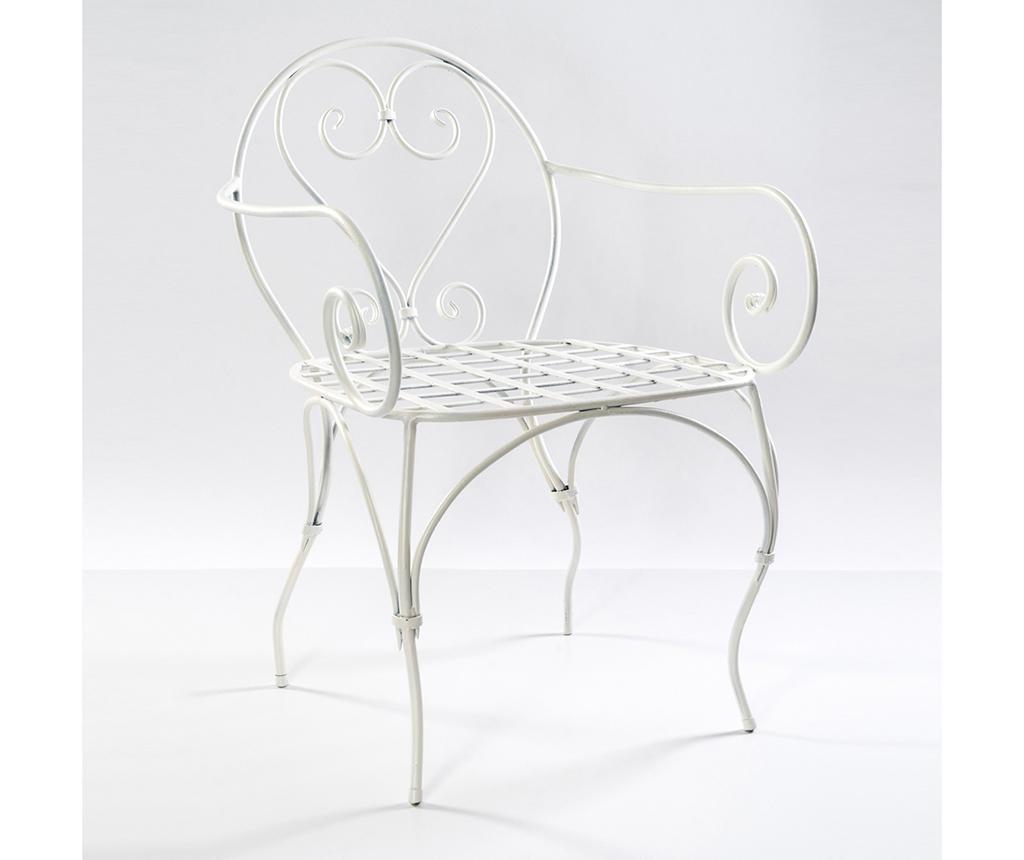 Krzesło ogrodowe Garden Arms White