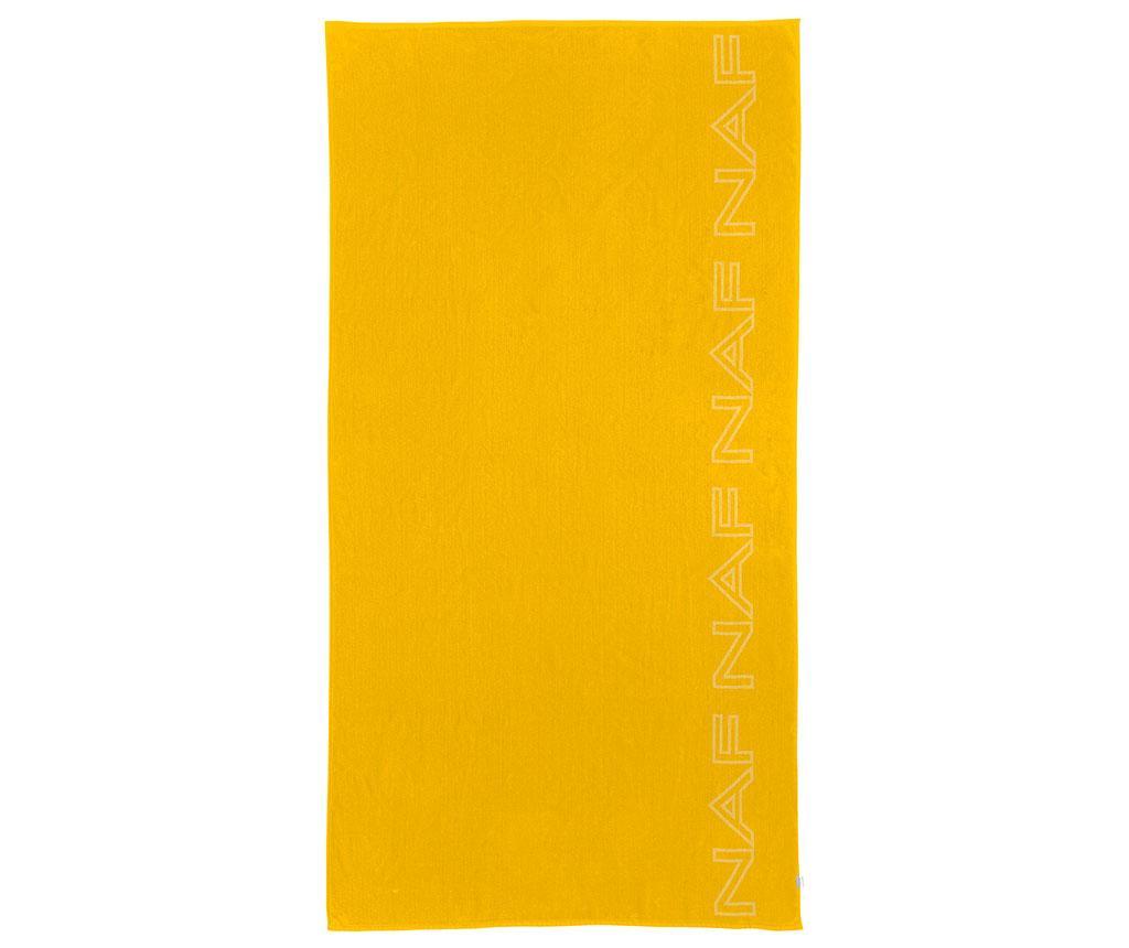 Prosop de plaja Casual Yellow 90x180 cm