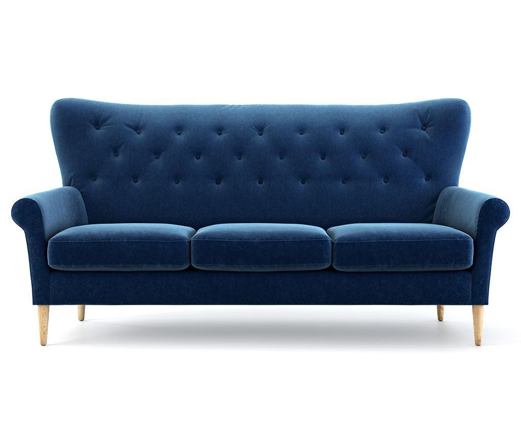 Canapea 3 locuri Amelie Navy Blue