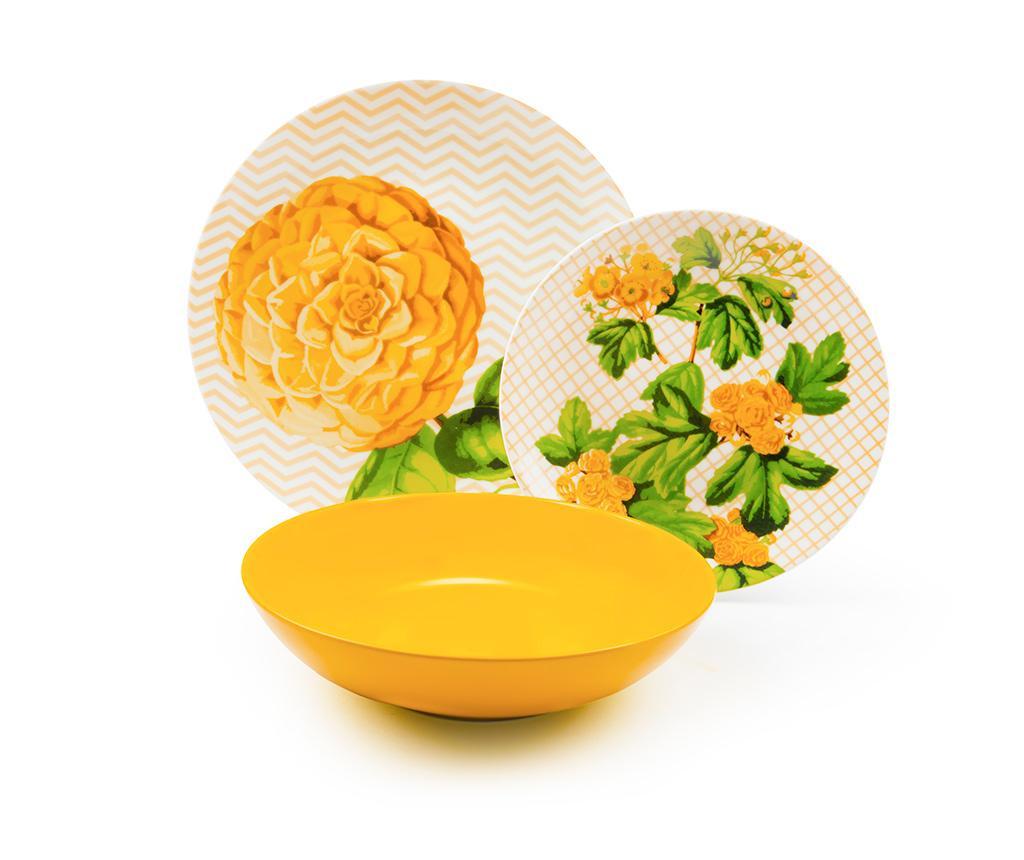 Osiemnastoczęściowa zastawa stołowa Floral
