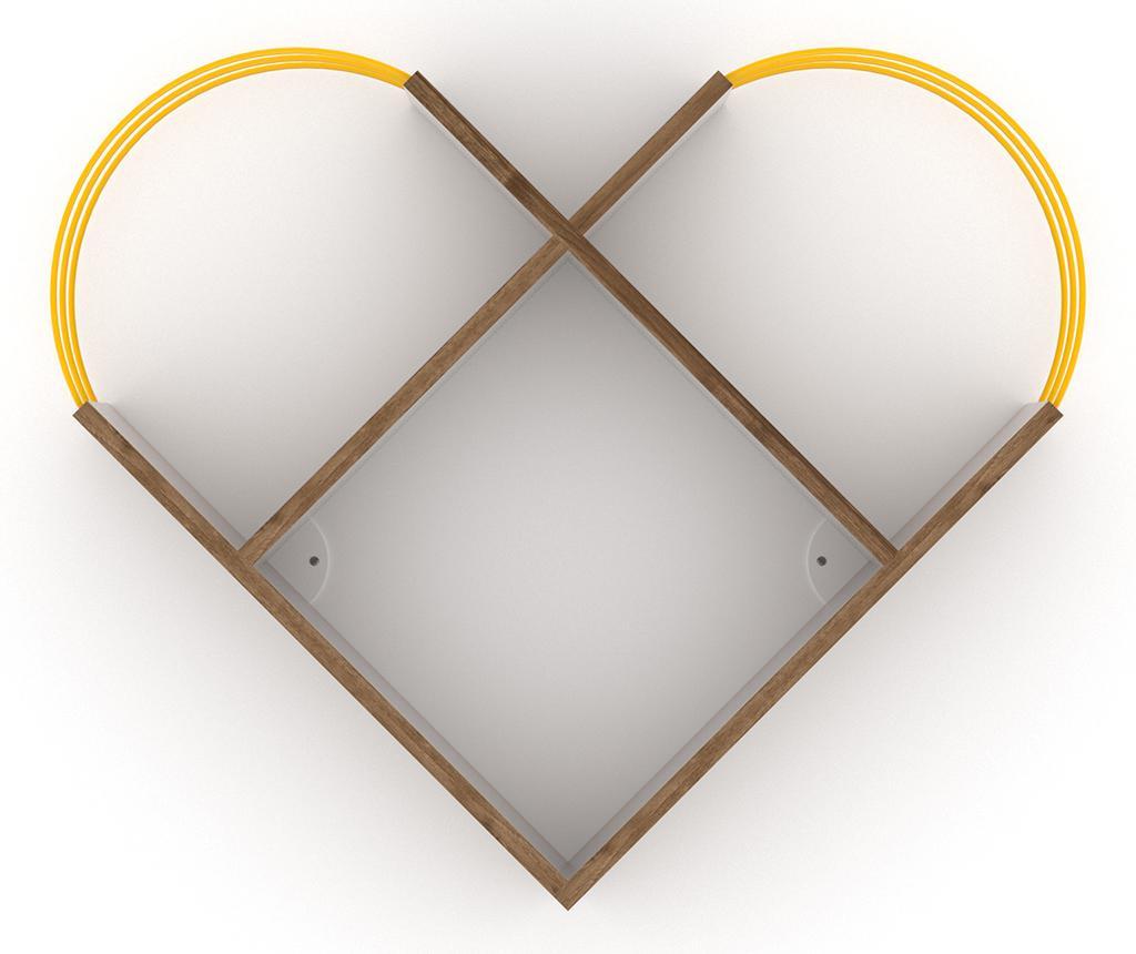 Raft de perete Case Walnut Yellow