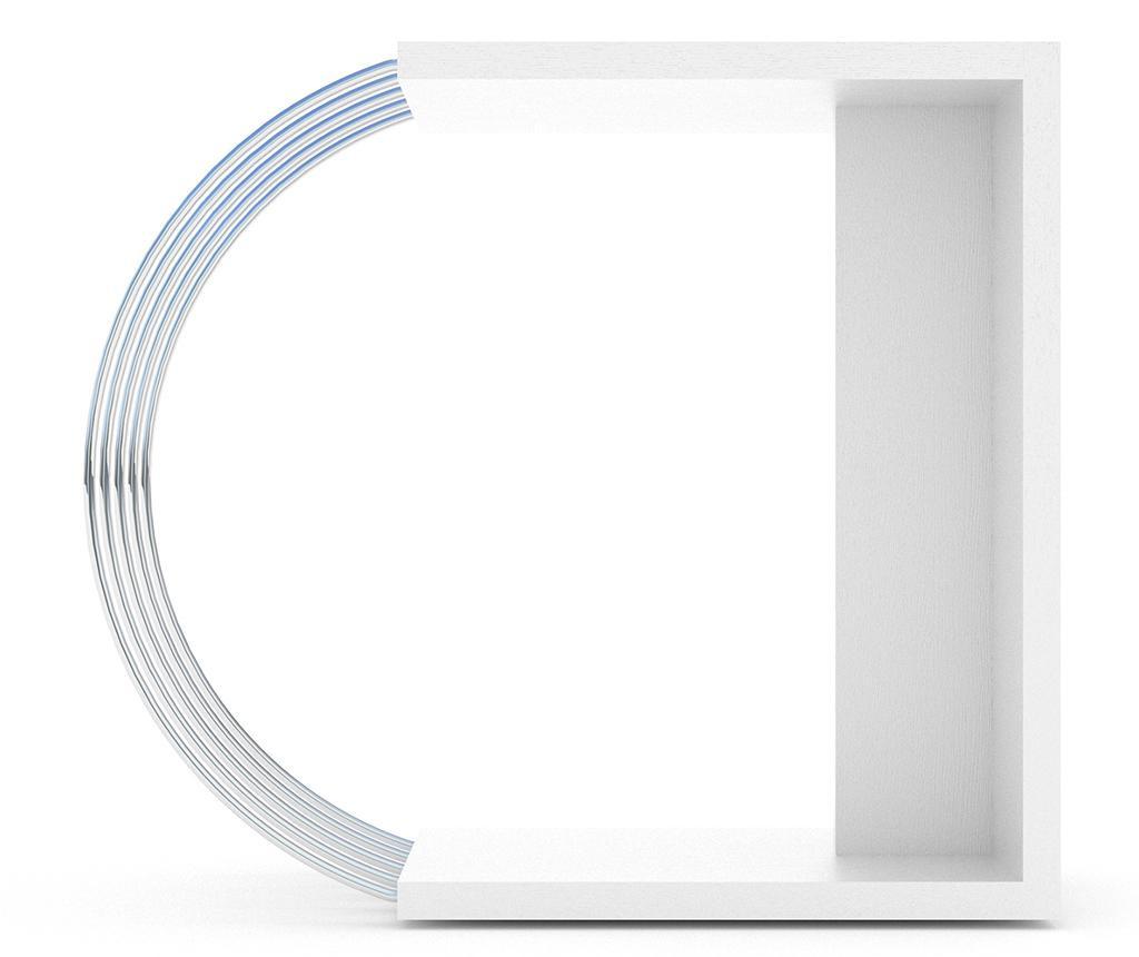 Τραπεζάκι Case White Chrome