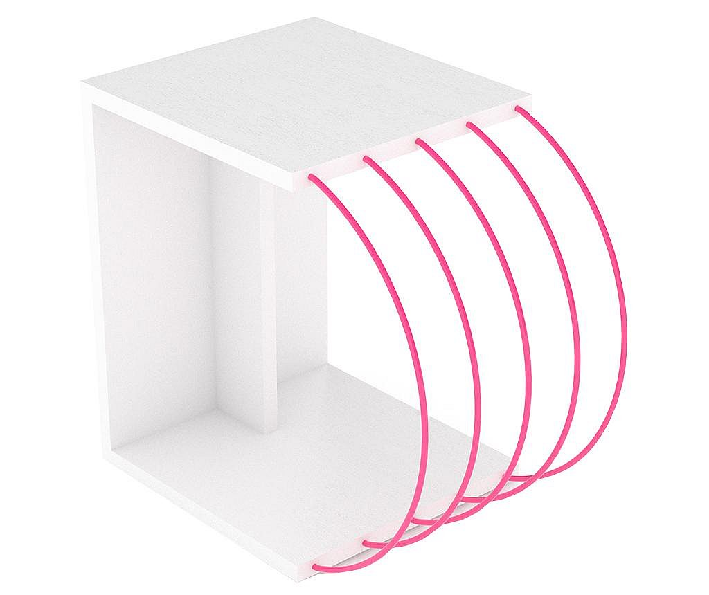 Τραπεζάκι Case White Pink