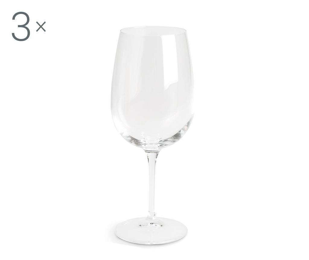 Set 3 pahare pentru vin Spazio 500 ml