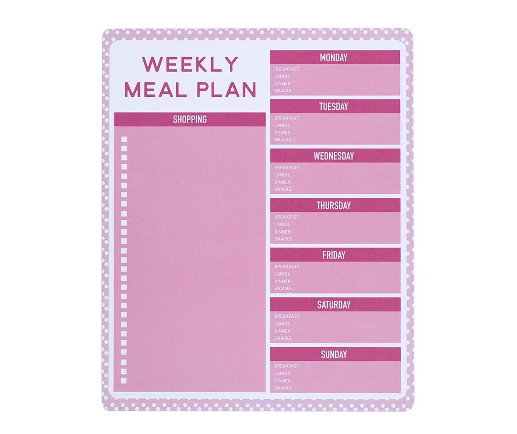 Organizator saptamanal pentru mese Pink