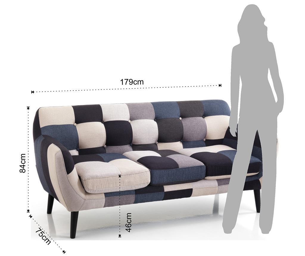 Canapea cu 3 locuri Gialos