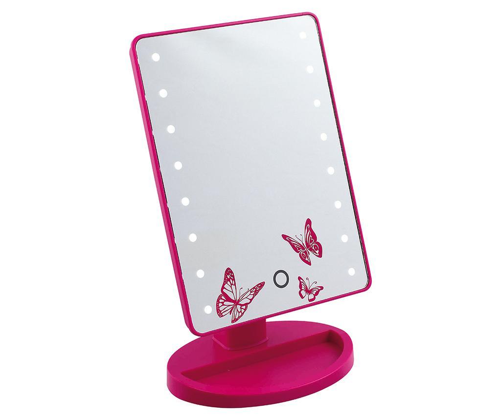 Oglinda cosmetica cu LED Butterflies