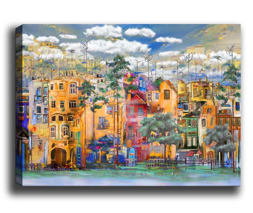 Tablou Colourful City 70x100 cm
