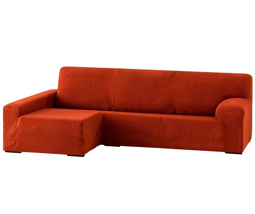 Pokrowiec elastyczny na narożnik lewostronny Dorian Dark Orange 250x150x80 cm