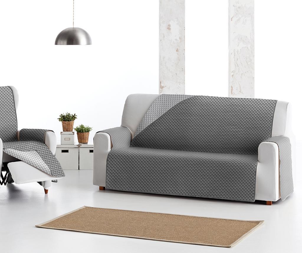 Prošivena navlaka za kauč Oslo Reverse Dark & Light Grey 115x80x220 cm