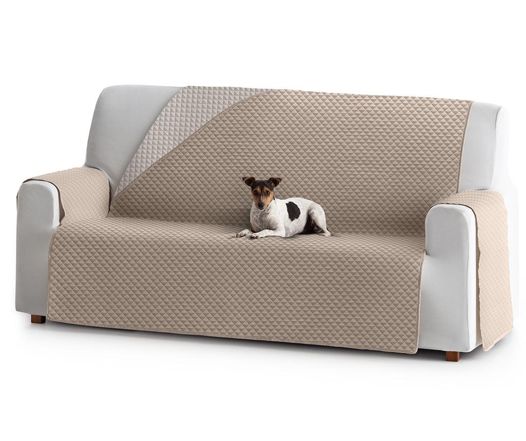 Prošivena navlaka za kauč Oslo Reverse Beige & Ecru 160x80x220 cm