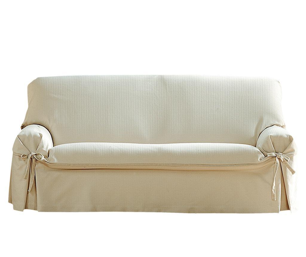 Podesiva navlaka za kauč Paola Ecru Bows 180x45x50 cm